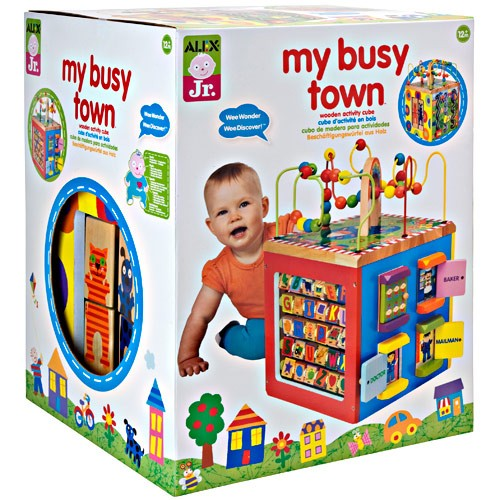 Busy town wooden activity cube educational toys planet - Colchonetas para bebes ...