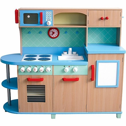 All in one play kitchen deluxe wooden kids kitchen set for All kitchen set