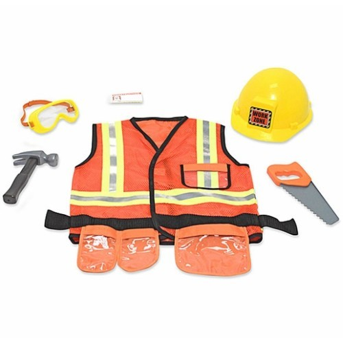 Construction Play Toys : Construction worker costume role play set educational