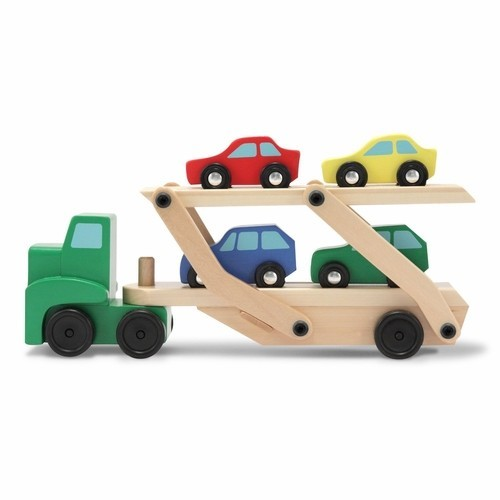 Pics Photos - Car Carrier Truck Cars Wooden Toy Set 19 99