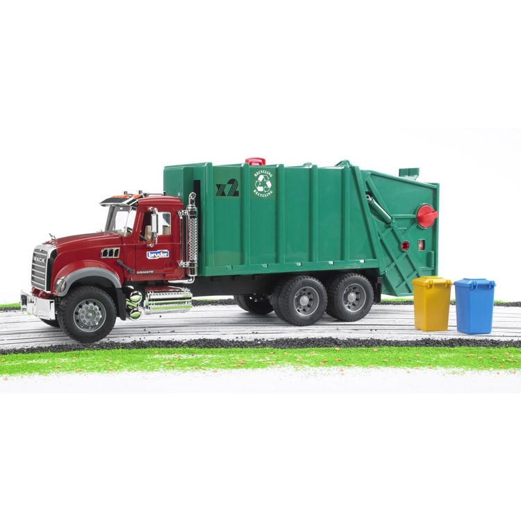 Bruder Mack Granite Green Amp Red Toy Garbage Truck Educational Toys Planet