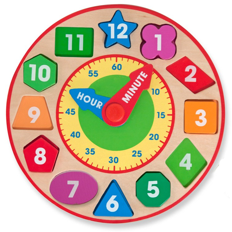 Preschool Learning Toys : Shape sorting clock preschool learning toy educational