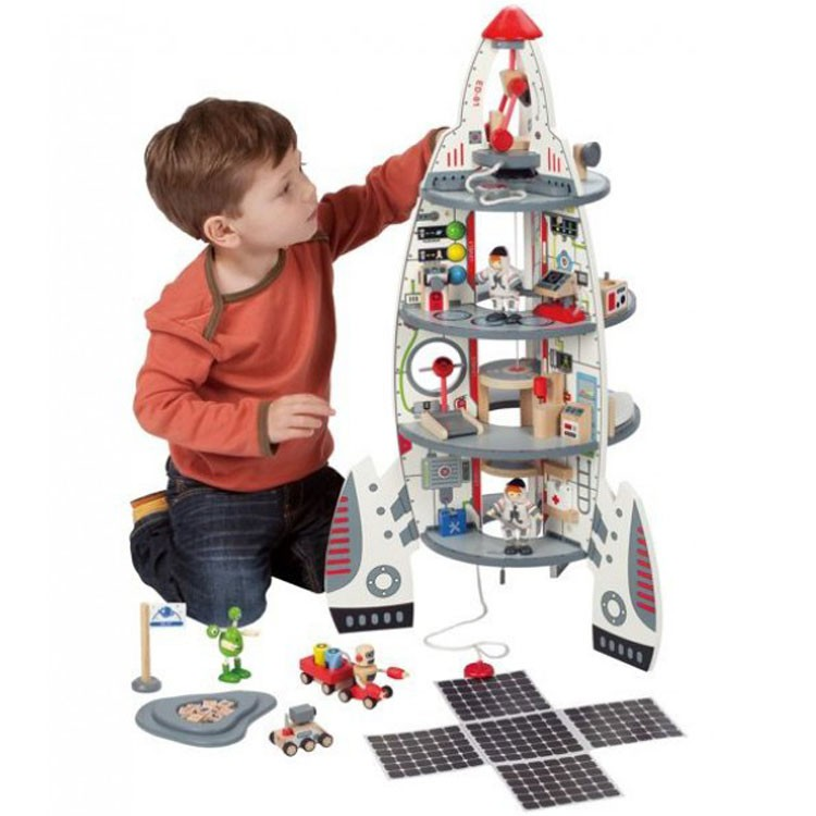 Spaceship Toys For Boys : Discovery space center giant spaceship deluxe playset