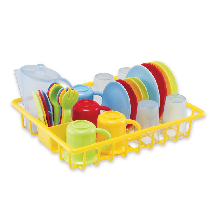 Kids dish pc play set with drainer educational