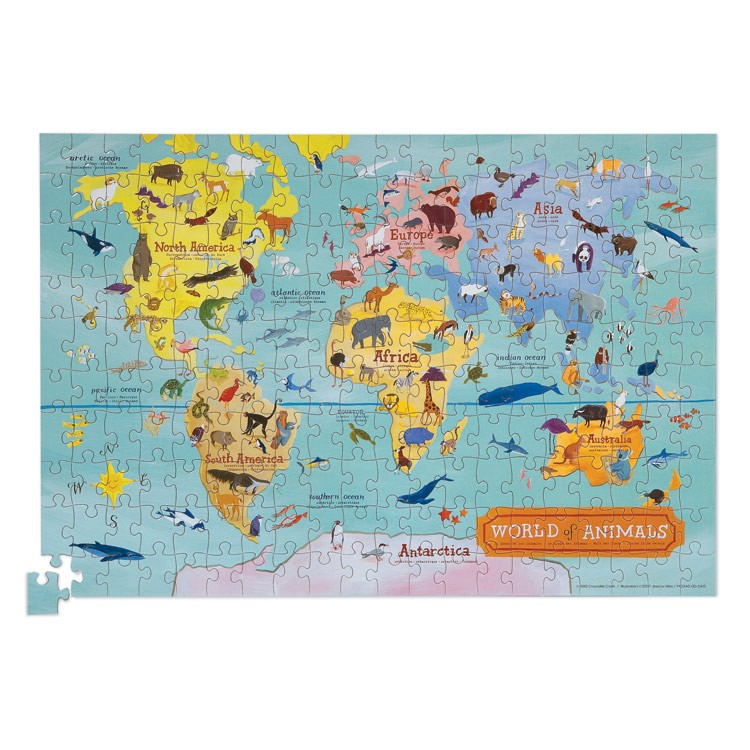 World Map 200 pc Jigsaw Puzzle and Poster Set Educational Toys Planet