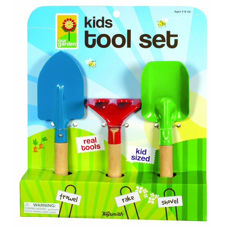 Kids gardening 3 pc hand tools set educational toys planet for Childrens gardening tools