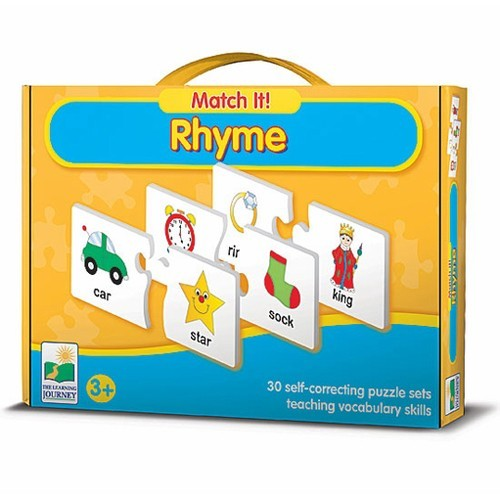 match it  - rhyme educational puzzle