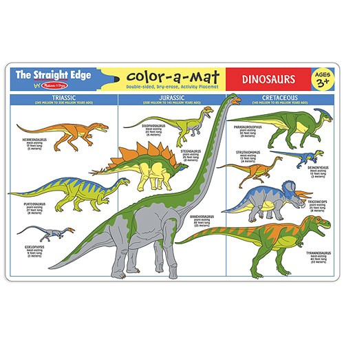 Dinosaurs Coloring Learning Placemat Educational Toys Planet