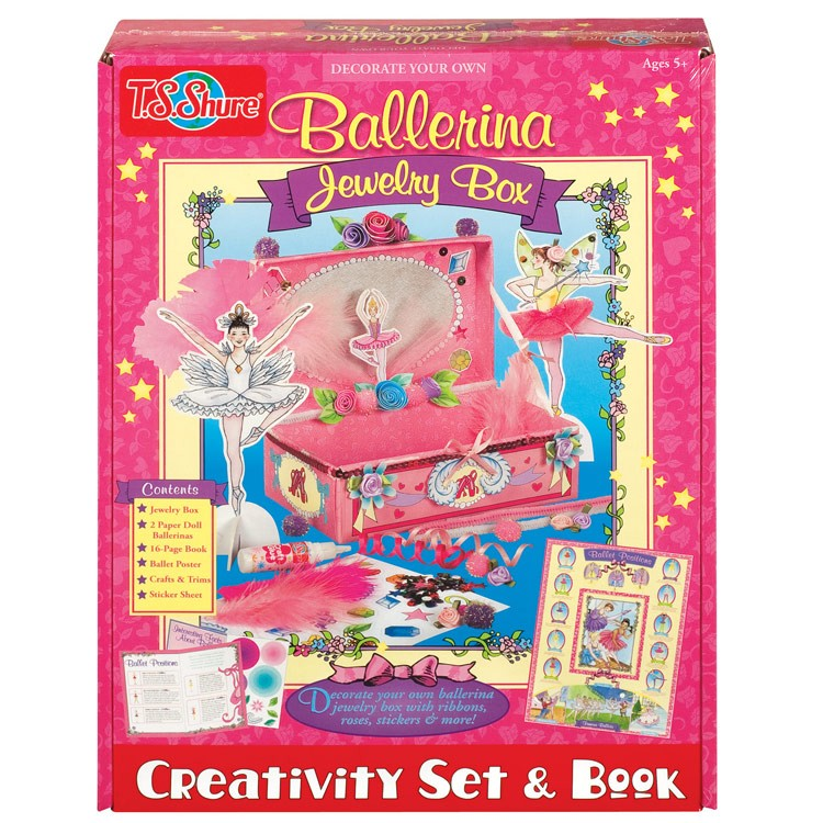 Ballet jewelry box girls craft kit educational toys planet for Crafts for girls age 9