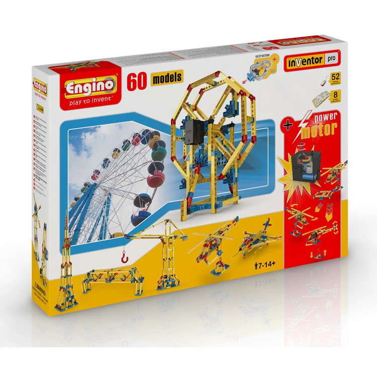 Engino 60 model building kit with motor educational toys for Motor age coupon code