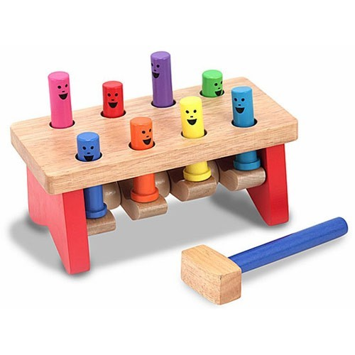 Baby Peg Toys : Deluxe pound a peg wooden toy educational toys planet