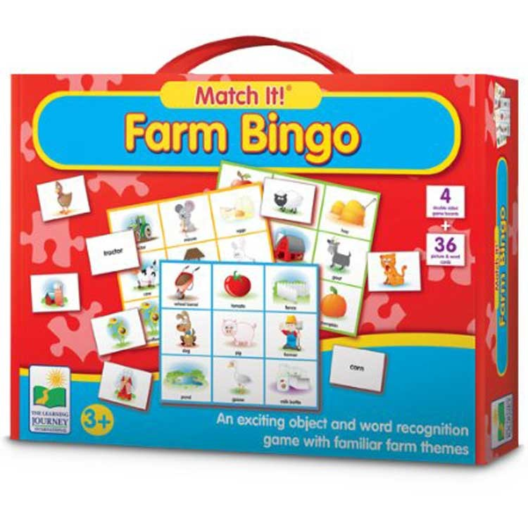 match it listen and play farm bingo song