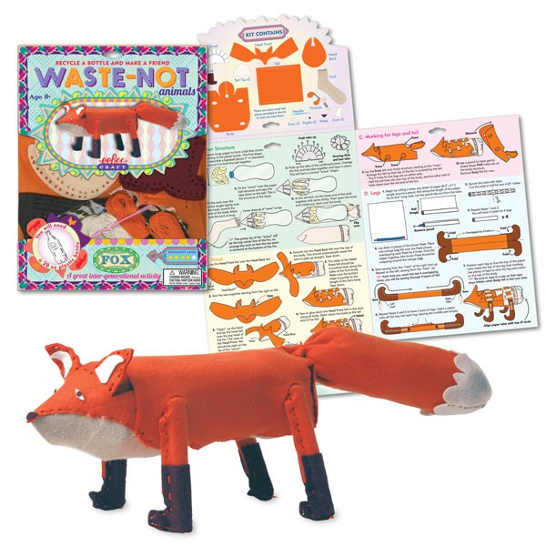 Make a fox toy animal craft kit educational toys planet for Jewelry making kit for 4 year old