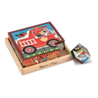 Vehicles Wooden Cube Puzzle