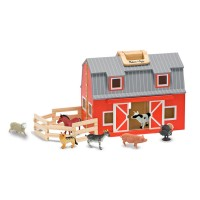 Fold & Go Barn Wooden Playset