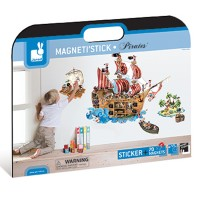 Pirate Ship MagnetiStick Magnetic Wall Stickers Set