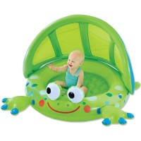 Frog Baby Inflatable Pool with Shade
