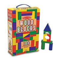 100 pc Wood Building Blocks Set