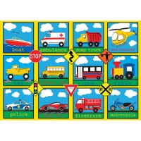 Vehicles 24 pc Puzzle in a Suitcase Box