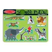 Zoo Animals 8pc Wooden Sound Puzzle