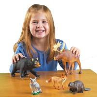 Jumbo Forest Animals 5 pc Wild Animal Figurines Set