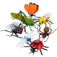 Toy Giant Bugs 7 pc Set - Jumbo Insects
