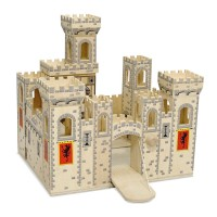 Deluxe Folding Medieval Castle Wooden Toy