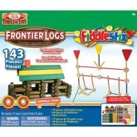 Frontier Logs and Fiddlestix 143 pc Deluxe Building Set