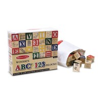 Wooden ABC-123 Blocks Learning Toy