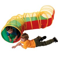 Zig Zag Play Tunnel with Mesh Top