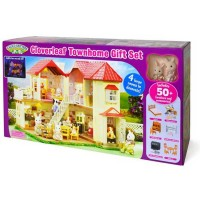 Calico Critters Cloverleaf Townhome Deluxe Gift Set