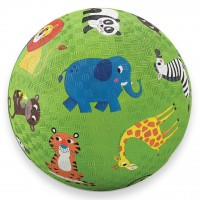 Jungle Animals 7 inch Green Play Ball for Kids