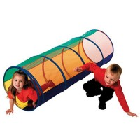 Peek a Boo Tunnel - Kids Play Tunnel with Mesh Top