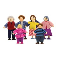 Doll Family 7 Wooden Dolls Set