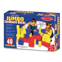 Deluxe Jumbo Cardboard Blocks 40 pc Building Set