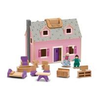 Melissa & Doug's Fold & Go Wooden Dollhouse
