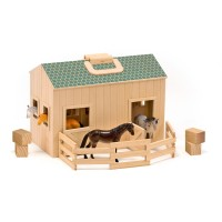 Fold & Go Stable Horse Playset