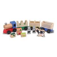 Farm Train Wooden Play Set