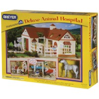 Breyer Deluxe Animal Hospital with 6 Animals Figurines Playset
