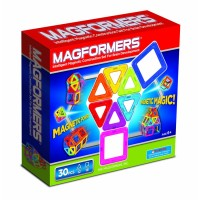 Magformers 30 pc Rainbow Magnetic Construction Toy