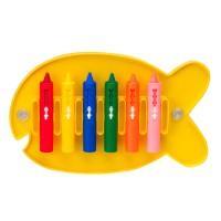 Draw in the Tub 6 Crayons Bathtub Crayon Holder
