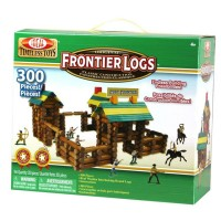 Frontier Logs 300 pc Wooden Classic Construction Play Set