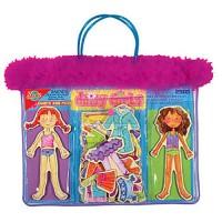 Daisy Girls Dress-Up Magnetic Wooden Dolls Set