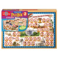 American Presidents and History 2 Wooden Puzzles Set