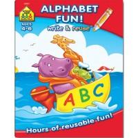 Alphabet Fun Workbook - Write-on & Wipe-off 26 Pages