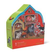 Farm 30 pc Jigsaw Puzzle in Barn Shaped Gift Box