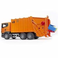 Bruder Scania R-Series  Orange Toy Garbage Truck