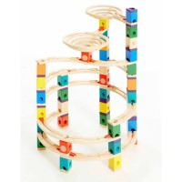 The Cyclone Quadrilla 198 pc Wooden Marble Run