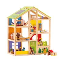 All Season House Furnished Wooden Dollhouse