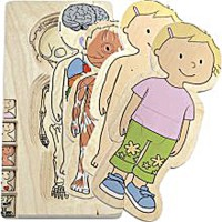 Girl Human Body Learning Puzzle